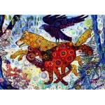 Puzzle  Grafika-T-00885 Sally Rich - Wolves in a Blue Wood