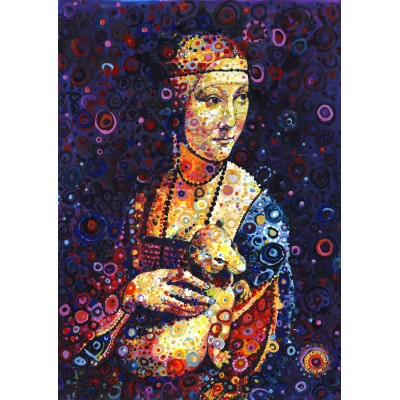 Puzzle  Grafika-T-00887 Leonardo da Vinci: Lady with an Ermine, by Sally Rich