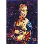 Puzzle  Grafika-T-00888 Leonardo da Vinci: Lady with an Ermine, by Sally Rich