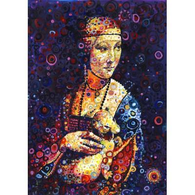 Puzzle  Grafika-T-00890 Leonardo da Vinci: Lady with an Ermine, by Sally Rich