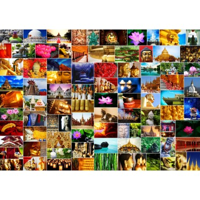 Puzzle Grafika-T-00905 Collage - Zen