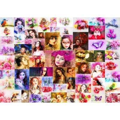 Puzzle  Grafika-T-00914 Collage - Frauen