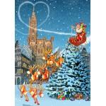 Puzzle  Grafika-T-00943 Straßburger Münster zu Weihnachten