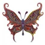 Harmandi-Puzzle-Creatif-90017 Holzpuzzle - Der Illusionist Schmetterling