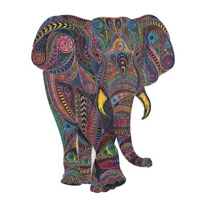 Harmandi-Puzzle-Creatif-90031 Holz Puzzle - Der Kaiserliche Elefant