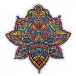 Harmandi-Puzzle-Creatif-90079 Holzpuzzle - Der Blühende Lotus