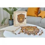 Harmandi-Puzzle-Creatif-90086 Holzpuzzle - Der Majestätische Löwe
