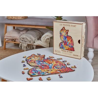 Harmandi-Puzzle-Creatif-90093 Wooden puzzle - The Tender Cat