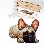 Harmandi-Puzzle-Creatif-90116 Holzpuzzle - Die Treue Bulldogge
