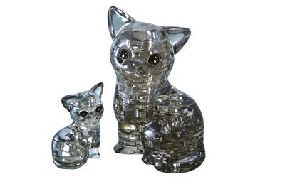 HCM-Kinzel-59127 3D-Puzzle aus Plexiglas - Katze und Kätzchen