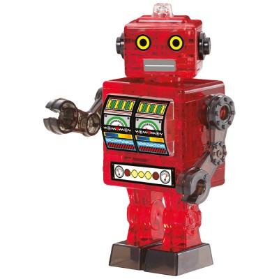 HCM-Kinzel-59166 3D Crystal Puzzle - Roboter Rot