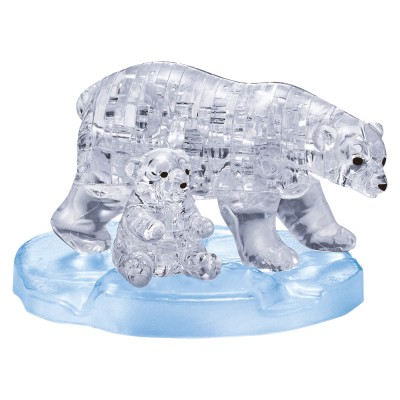 HCM-Kinzel-59182 3D Crystal Puzzle - Eisbärenpaar