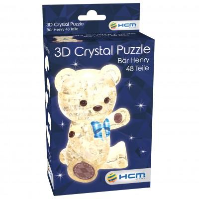 HCM-Kinzel-59191 Crystal Puzzle - Bär Henry Hellbraun