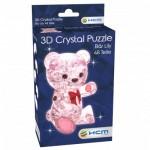 HCM-Kinzel-59192 Crystal Puzzle - Bär Lily Rosa