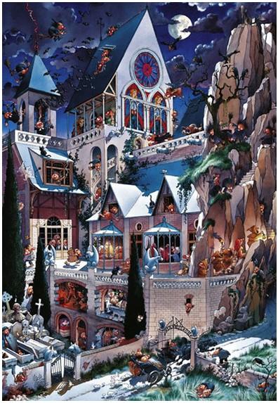 Puzzle  Heye-26127 Loup: Castle Horror