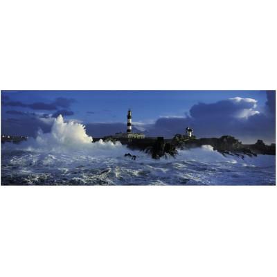 Heye-29286 Puzzle 1000 Teile Panorama - Edition Humboldt: Leuchtturm Le Créac' h