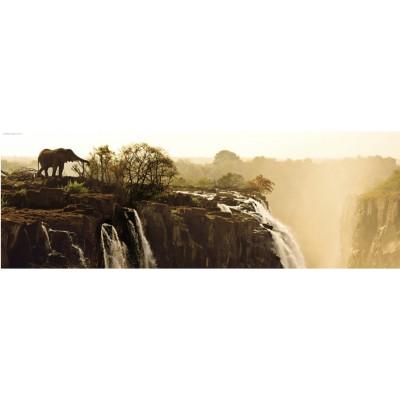 Heye-29287 Puzzle 1000 Teile Panorama - Edition Humboldt: Elefant