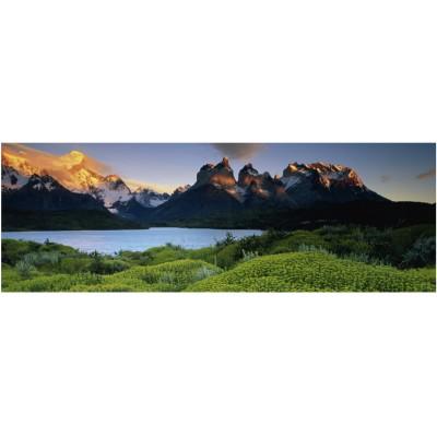 Heye-29288 Puzzle 1000 Teile Panorama - Edition Humboldt: Cuernos del Paine