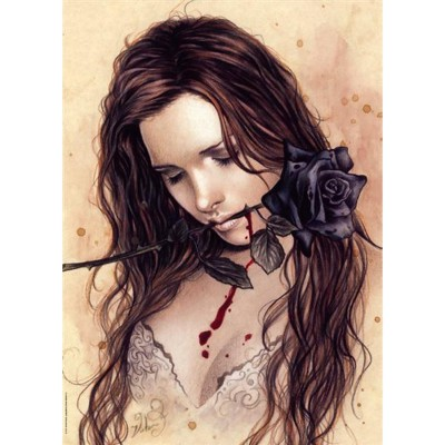 Puzzle Heye-29430 Victoria Frances - Favole: Dark rose
