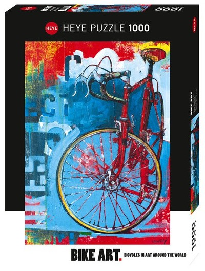 Puzzle  Heye-29600 Bike Art, Red Limited