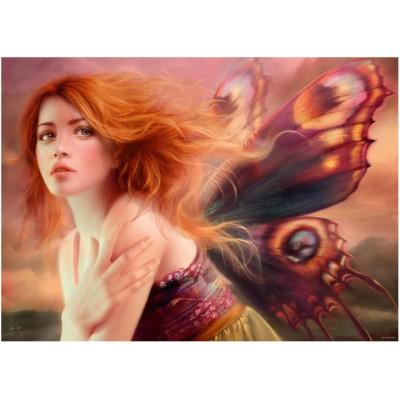 Puzzle Heye-29612 Mélanie Delon: Schmetterlingsflügel