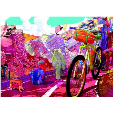 Puzzle  Heye-29677 The Ride Journal: Tour in Pink