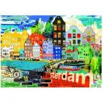 Puzzle  Heye-29683 Kitty McCall: I Love Amsterdam!