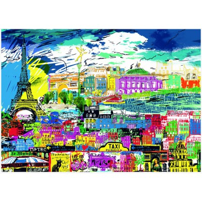 Puzzle Heye-29741 Kitty McCall: I love Paris!