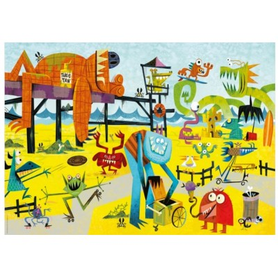 Puzzle  Heye-29798 Slaek: Monster am Strand