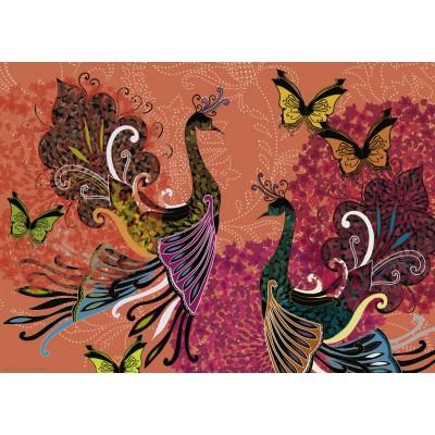 Puzzle Heye-29821 Turnowsky - Peacocks & Butterflies
