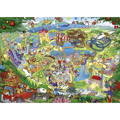Puzzle Heye-29837 Anders Lyon - Fun Park Trip