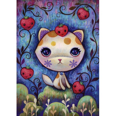 Puzzle Heye-29895 Jeremiah Ketner - Strawberry Kitty