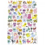 Puzzle  Heye-70168-29482 Jon Burgerman: Doodlecat