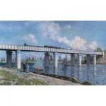 Puzzle  Impronte-Edizioni-080 Claude Monet - Die Eisenbahbrücke in Argenteuil