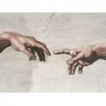 Puzzle  Impronte-Edizioni-084 Michelangelo - Die Erschaffung Adams