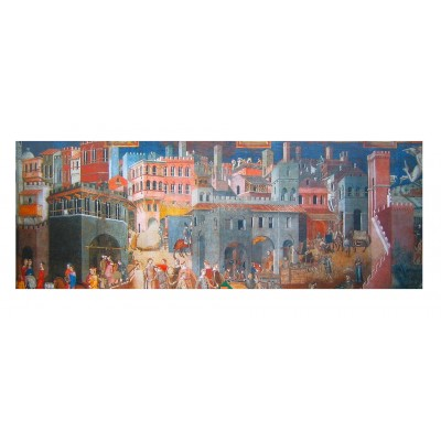 Puzzle  Impronte-Edizioni-125 Lorenzetti - The Allegory of Good and Bad Government