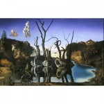 Puzzle  Impronte-Edizioni-240 Salvador Dalí - Schwäne spiegeln Elefanten
