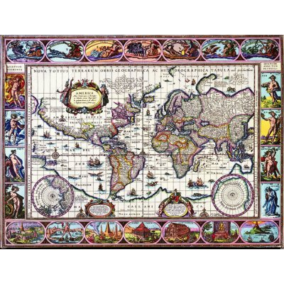 Puzzle  Impronte-Edizioni-247 Illustrierte Weltkarte