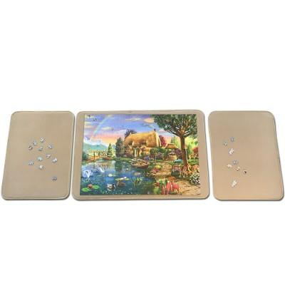 Jig-and-Puz-80012 3 Tabletts für Puzzle - 1 x 1000 Teile + 2 x 500 Teile