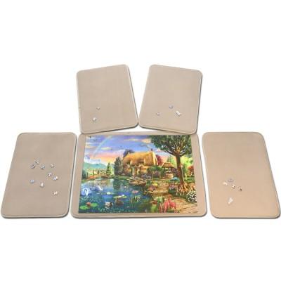 Jig-and-Puz-80013 5 Tabletts für Puzzle - 1 x 1000 Teile + 4 x 500 Teile