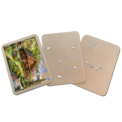 Jig-and-Puz-80014 3 Tabletts für Puzzle - 3 x 500 Teile