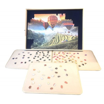 Jig-and-Puz-80018 Luxe Puzzle Table - 100 bis 1500 Teile + 3 Sorting Boards