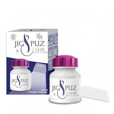 Jig-and-Puz-80019 Kleber für 2 x 1000 Teile Puzzles mit Spatel