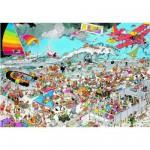 Puzzle  Jumbo-01652 Jan van Haasteren: Am Strand