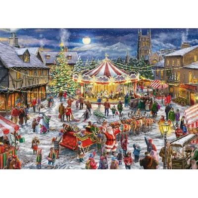 Jumbo-11308 2 Puzzles - Christmas Carrousel