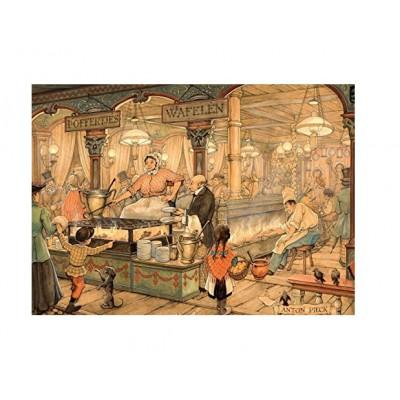 Puzzle  Jumbo-17091 Pieck Anton: Holländischer Waffelstand