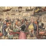 Puzzle  Jumbo-17094 Anton Pieck - Die Ausstellung