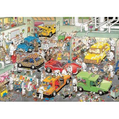 Puzzle  Jumbo-17281 Jan van Haasteren: In der Autolackiererei