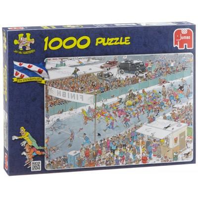 Puzzle  Jumbo-17310 Van Haasteren Jan: Rennen auf Eis