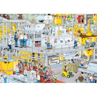 Puzzle  Jumbo-17452 Van Haasteren Jan: Die Schokoladenfabrik